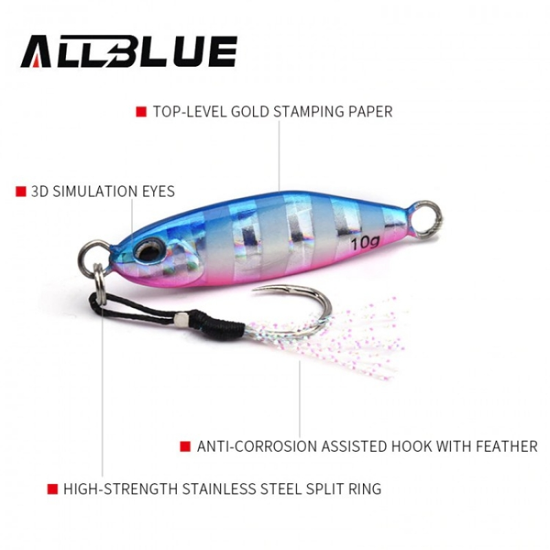 ALLBLUE 2019 New DRAGER Micro Metal Jig 3g 5g 7g 10g
