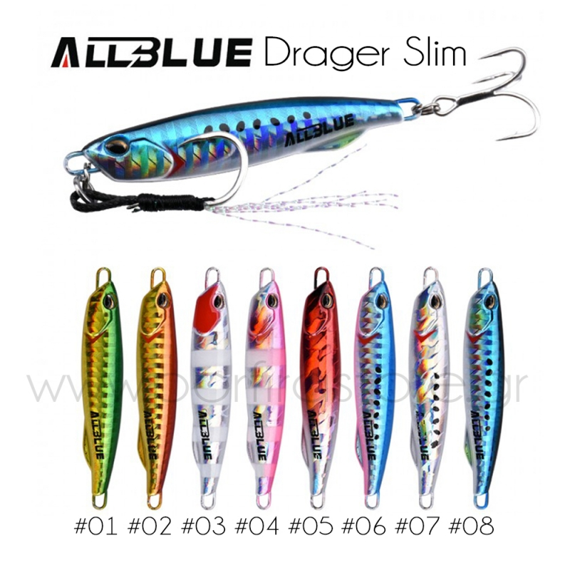ALLBLUE DRAGER SLIM Metal Casting Jig Spoon 20G 30G