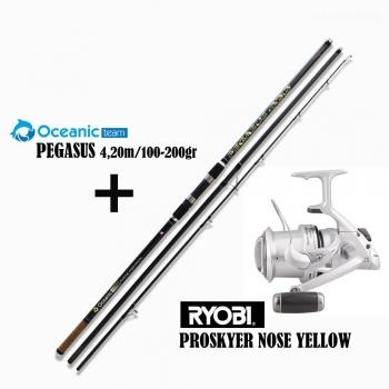 Oceanic Combo Pegasus 4.20 - Ryobi Proskyer Yellow