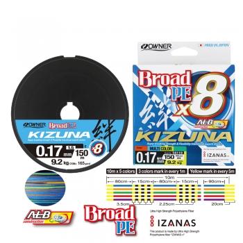 Owner Kizuna Multicolor 150m 8-Braid