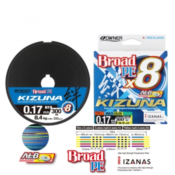 Owner Kizuna Multicolor 300m 8-Braid